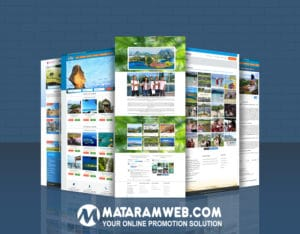 Template website untuk travel