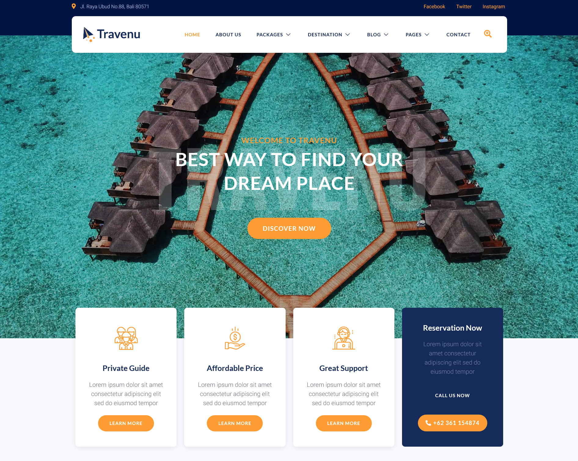 lading page travel
